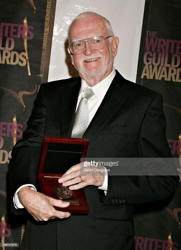 Writer Frank Pierson with his Morgan Cox Service Honor poses in the press room during the 2006 Writers Guild Awards held at The Hollywood Palladium...