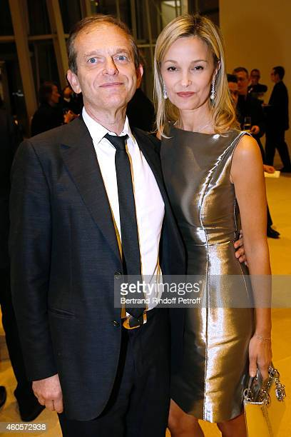 Writer Frederic Saldmann and his wife Marie attend the 'Fondation Claude Pompidou' Charity Party at Fondation Louis Vuitton on December 16 2014 in...