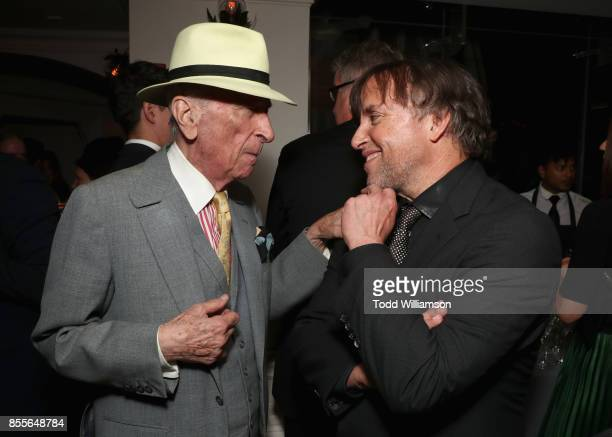 Writer Gay Talese and director Richard Linklater attends the Last Flag Flying NYFF World Premiere on September 28 2017 at Alice Tully Hall in New...