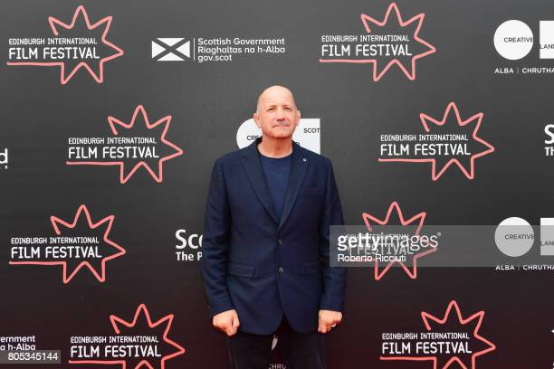 Writer Geoff Thompson attends a photocall for the projection of 'Romans' during the 71st Edinburgh International Film Festival at Cineworld on July 1...