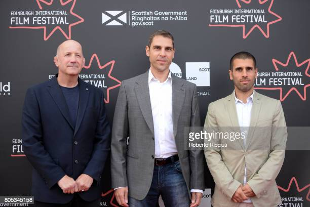 Writer Geoff Thompson directors Ludwig Shammasian and Paul Shammasian attend a photocall for the projection of 'Romans' during the 71st Edinburgh...