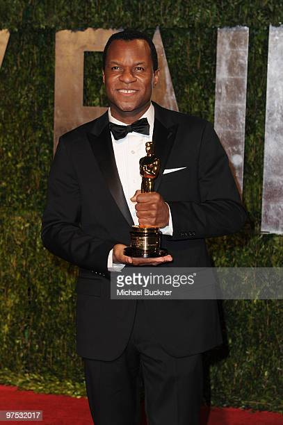 Writer Geoffrey Fletcher arrives at the 2010 Vanity Fair Oscar Party hosted by Graydon Carter held at Sunset Tower on March 7 2010 in West Hollywood...