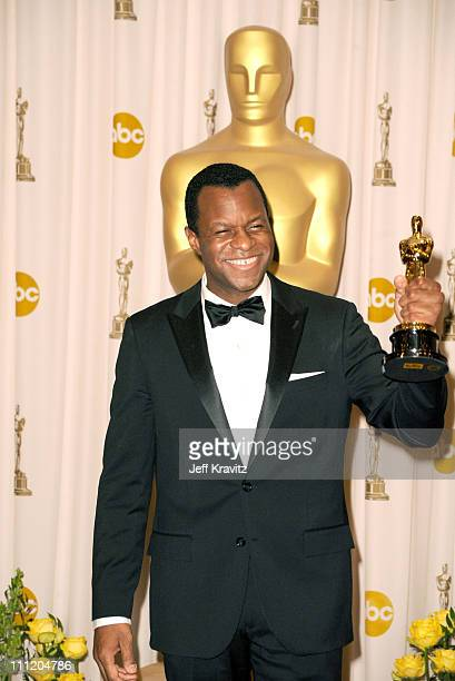 Writer Geoffrey Fletcher poses in the press room at the 82nd Annual Academy Awards held at Kodak Theatre on March 7 2010 in Hollywood California