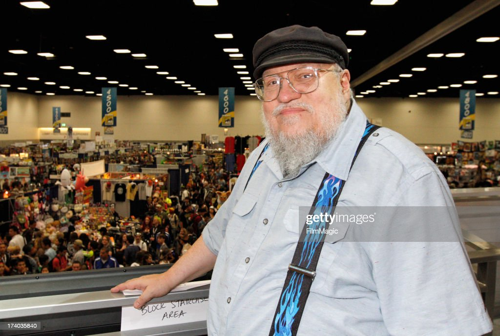 Writer George R. R. Martin attends HBO's 'Game Of Thrones' cast autograph signing at San Diego Convention Center on July 19, 2013 in San Diego, California.