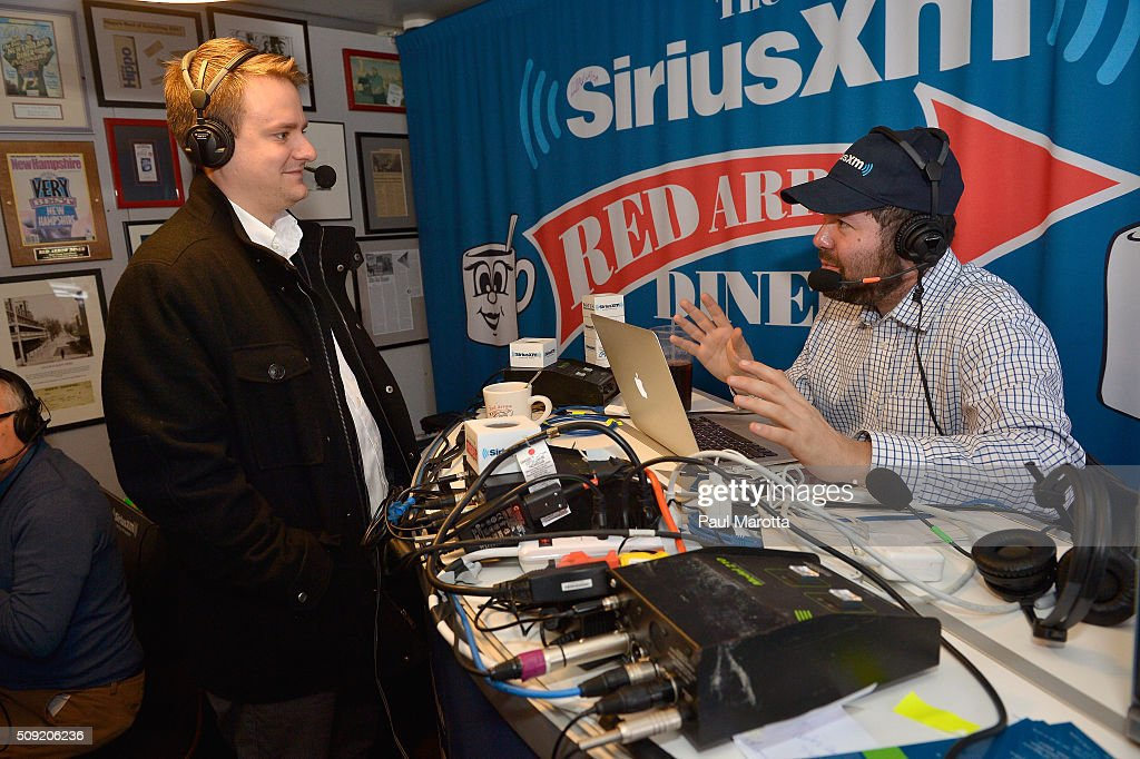 Writer George Zornick of The Nation is interviewed by Ari Rabin-Havt at SiriusXM Red Diner Broadcasts from New Hampshire Primary Coverage Live on February 9, 2016 in Manchester, New Hampshire.
