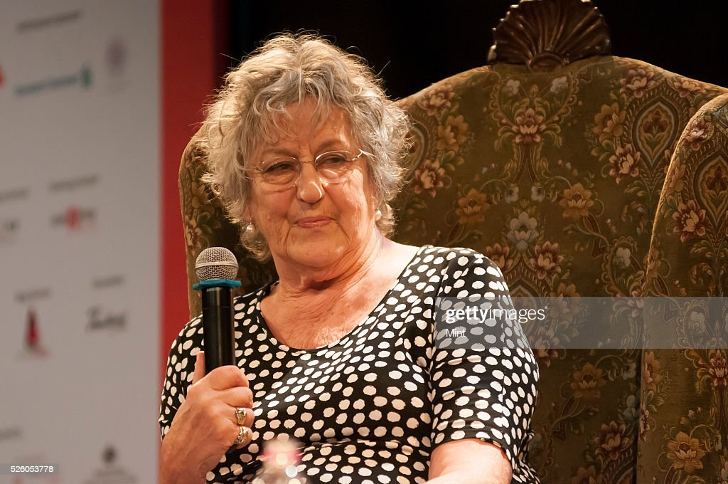 Writer Germaine Greer at the Tata Literature Live Festival 2015 on October 29, 2015 in Mumbai, India.