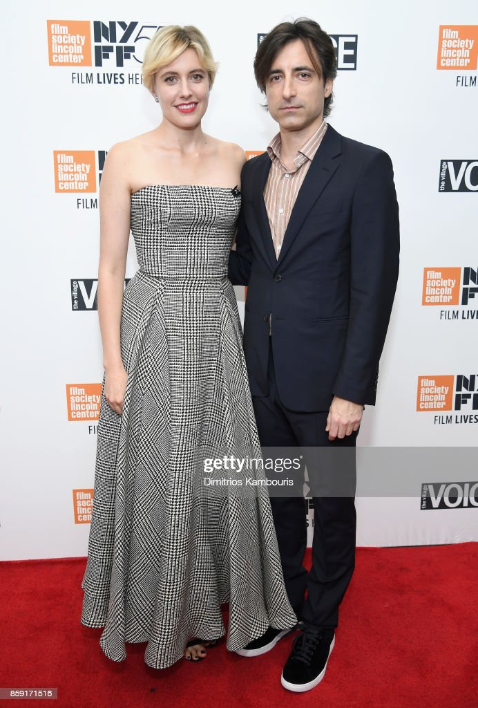 Writer Greta Gerwig and filmmaker Noah Baumbach attend 55th New York Film Festival screening of 'Lady Bird' at Alice Tully Hall on October 8, 2017 in New York City.