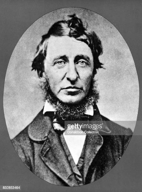 Writer Henry David Thoreau poses for a portrait in circa 1860