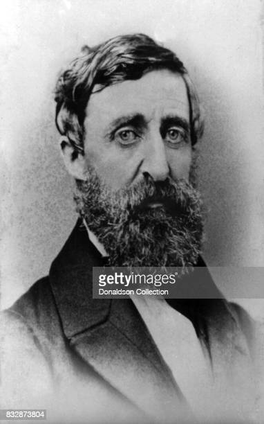 Writer Henry David Thoreau poses for a portrait in circa 1879