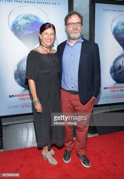 Writer Holiday Reinhorn and actor Rainn Wilson attend a screening of Paramount Pictures' 'An Inconvenient Sequel Truth To Power' at ArcLight...