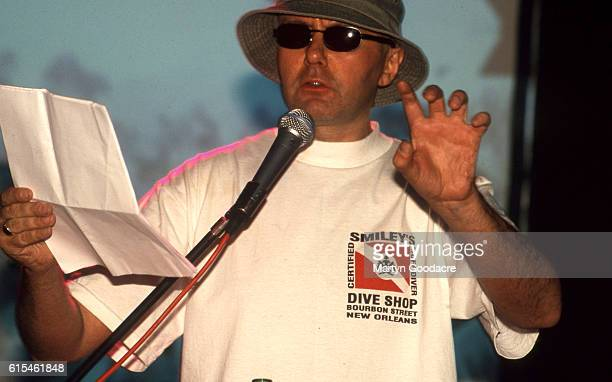 Writer Irvine Welsh doing a reading on the ARTthrob tour London 1995