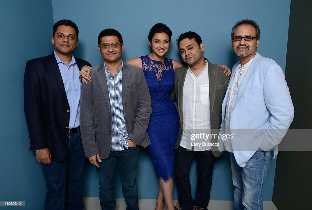writer Jaideep Sahni, actress Parineeti Chopra, director Maneesh Sharma and Avtar Panesar attend 'A Random Desi Romance' Press Conference during the 2013 Toronto International Film Festival at TIFF Bell Lightbox on September 11, 2013 in Toronto, Canada.