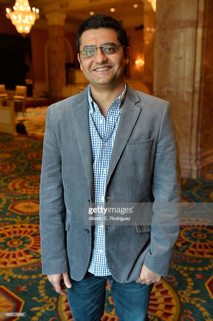 Writer Jaideep Sahni from the India's 'A Random Desi Romance' cast prepares for the 2013 Toronto International Film Festival Premiere at Fairmont Royal York on September 11, 2013 in Toronto, Canada.