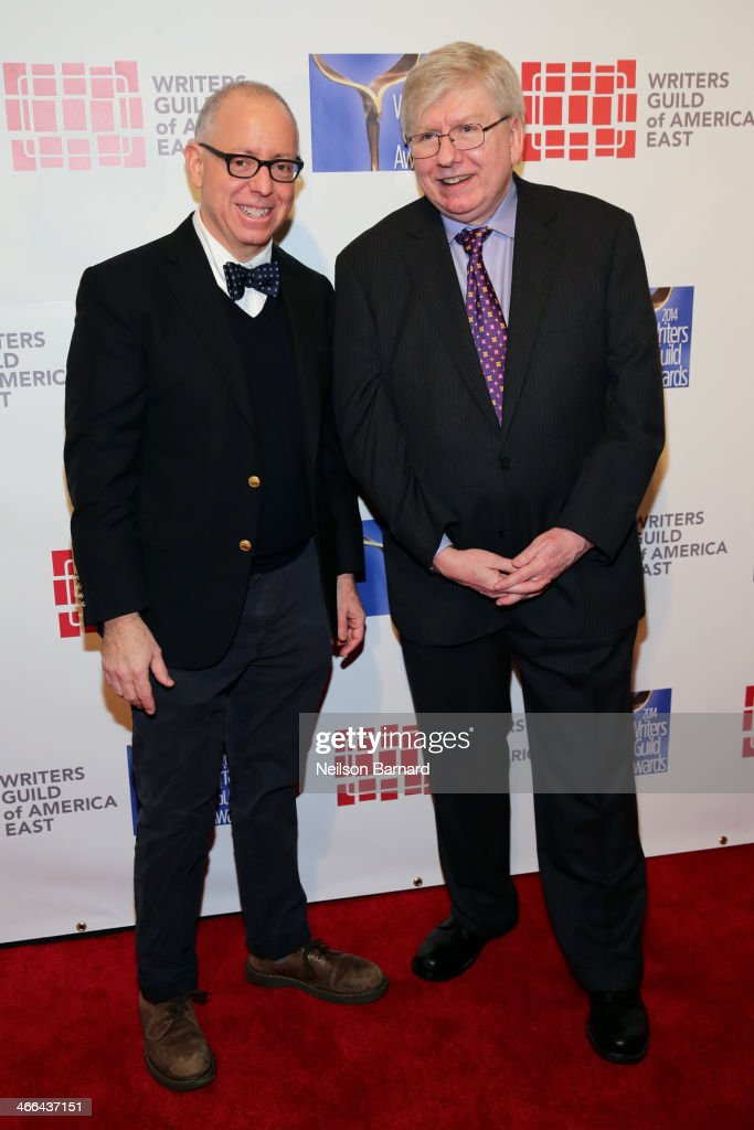 Writer <a gi-track='captionPersonalityLinkClicked' href=/galleries/search?phrase=James+Schamus&family=editorial&specificpeople=628217 ng-click='$event.stopPropagation()'>James Schamus</a> and President of the Writers Guild of America, East Michael Winship attend The 66th Annual Writers Guild Awards East Coast Ceremony at The Edison Ballroom on February 1, 2014 in New York City.