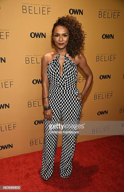 Writer Janet Mock attends the 'Belief' New York premiere at TheTimesCenter on October 14 2015 in New York City