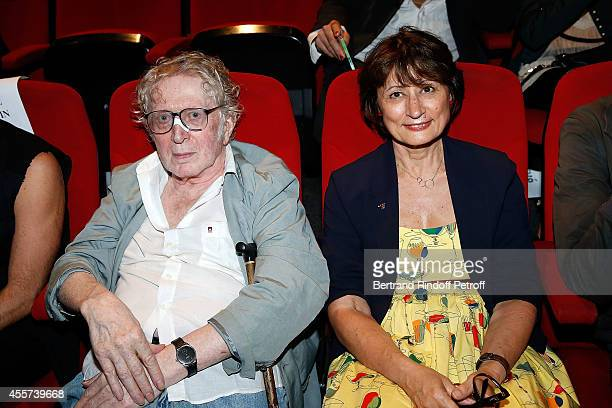 Writer JeanJacques Schuhl and Writer Catherine Millet attend the Bertrand Bonello's Exhibition 'Resonances' at Centre Pompidou on September 19 2014...