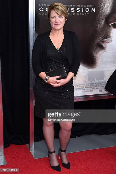 Writer Jeanne Marie Laskas attends the'Concussion' New York Premiere at AMC Loews Lincoln Square on December 16 2015 in New York City