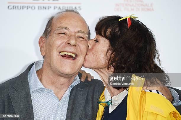 Writer JeanNoel Pancrazi and Geraldine Chaplin attend 'Dolares De Arena' Photocall during the 9th Rome Film Festival at Auditorium Parco Della Musica...