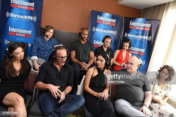 Writer Jed Whedon actors Henry Simmons Iain de Caestecker Elizabeth Henstridge MingNa Wen Clark Gregg and Chloe Bennet executive producer Jeph Loeb...