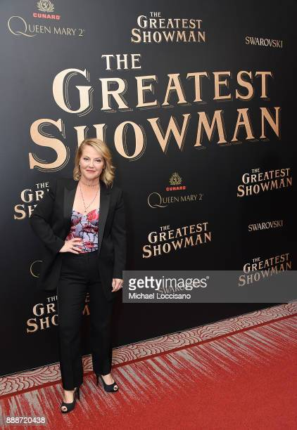 Writer Jenny Bicks attends the 'The Greatest Showman' World Premiere aboard the Queen Mary 2 at the Brooklyn Cruise Terminal on December 8 2017 in...