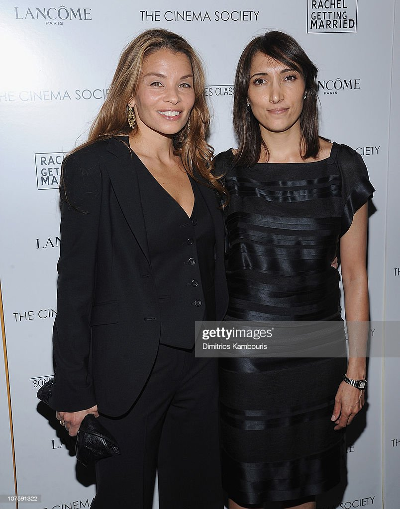 Writer <a gi-track='captionPersonalityLinkClicked' href=/galleries/search?phrase=Jenny+Lumet&family=editorial&specificpeople=1548604 ng-click='$event.stopPropagation()'>Jenny Lumet</a> and producer Neda Armian attend the Cinema Society and Lancome screening of 'Rachel Getting Married' at the Landmark Sunshine Theater on September 25, 2008 in New York City.