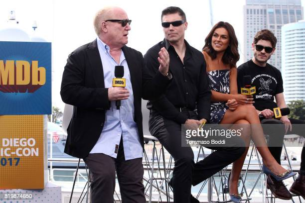 Writer Jeph Loeb actors Anson Mount Serinda Swan and Iwan Rheon Kevin Smith at the #IMDboat At San Diego ComicCon 2017 at The IMDb Yacht on July 20...
