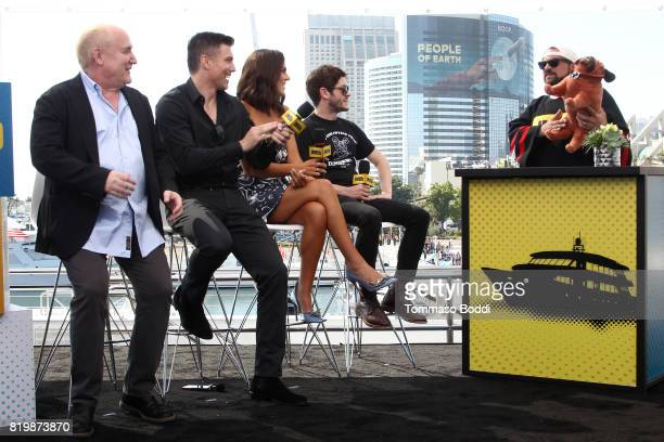 Writer Jeph Loeb actors Anson Mount Serinda Swan Iwan Rheon and host Kevin Smith at the #IMDboat At San Diego ComicCon 2017 at The IMDb Yacht on July...
