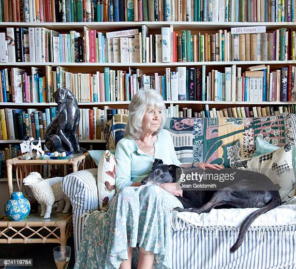 Writer Jilly Cooper is photographed for Tatler magazine on July 21 2016 in Bisley Gloucestershire