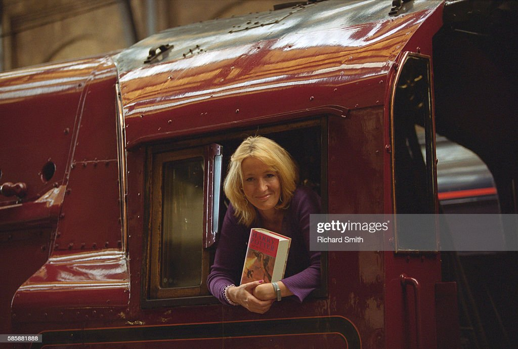 Writer J.K. Rowling at Book Launching : Stock Photo