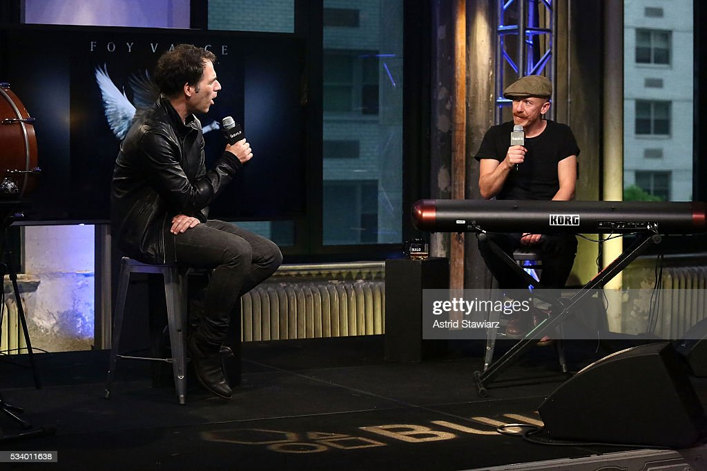 Writer Joe Levy talks with musician <a gi-track='captionPersonalityLinkClicked' href=/galleries/search?phrase=Foy+Vance&family=editorial&specificpeople=2079714 ng-click='$event.stopPropagation()'>Foy Vance</a> during AOL Build Presents: <a gi-track='captionPersonalityLinkClicked' href=/galleries/search?phrase=Foy+Vance&family=editorial&specificpeople=2079714 ng-click='$event.stopPropagation()'>Foy Vance</a> Performing And Discussing His New Album 'The Wild Swan' at AOL Studios In New York on May 24, 2016 in New York City.