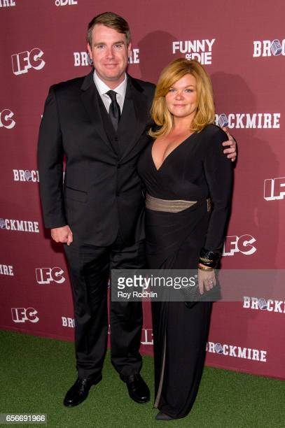 Writer Joel ChurchCooper and guest attend the 'Brockmire' red carpet event at 40 / 40 Club on March 22 2017 in New York City