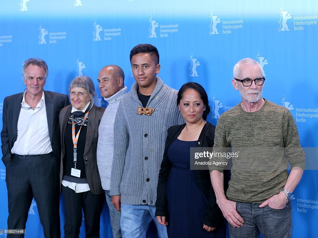 Writer John Collee, producer Robin Scholes, actors Temuera Morrison and Akuhata Keefe, actress Nancy Brunning and director Lee Tamahori attend the 'The Patriarch' (Mahana) photo call during the 66th Berlinale International Film Festival Berlin at Grand Hyatt Hotel on February 13, 2016 in Berlin, Germany.