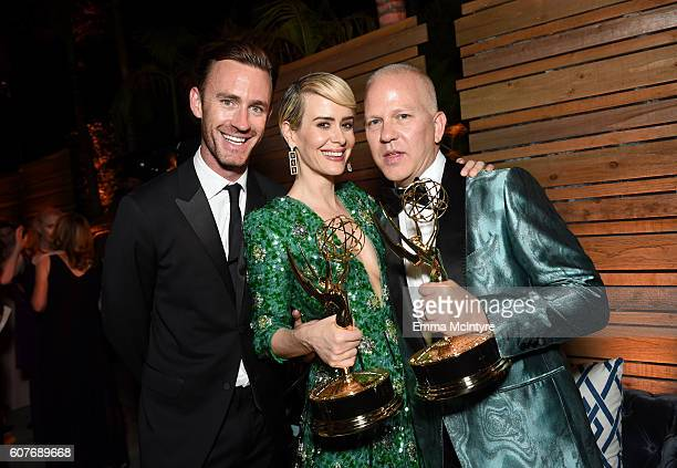 Writer John Gray actor Sarah Paulson and actor Ryan Murphy attends the FOX Broadcasting Company FX National Geographic And Twentieth Century Fox...