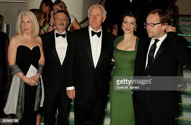 Writer John Le Carre actress Rachel Weisz and director Fernando Meirelles arrive at the UK Premiere of 'The Constant Gardener' as the opening gala...
