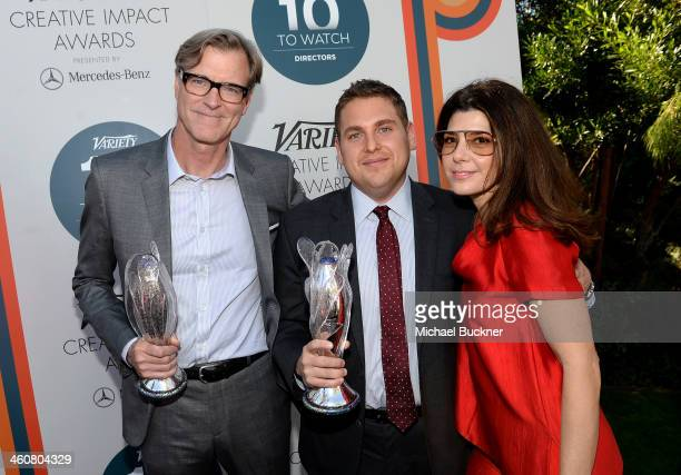 Writer John Lee Hancock actors Jonah Hill and Marisa Tomei attend Variety's Creative Impact Awards and 10 Directors to Watch brunch presented by...