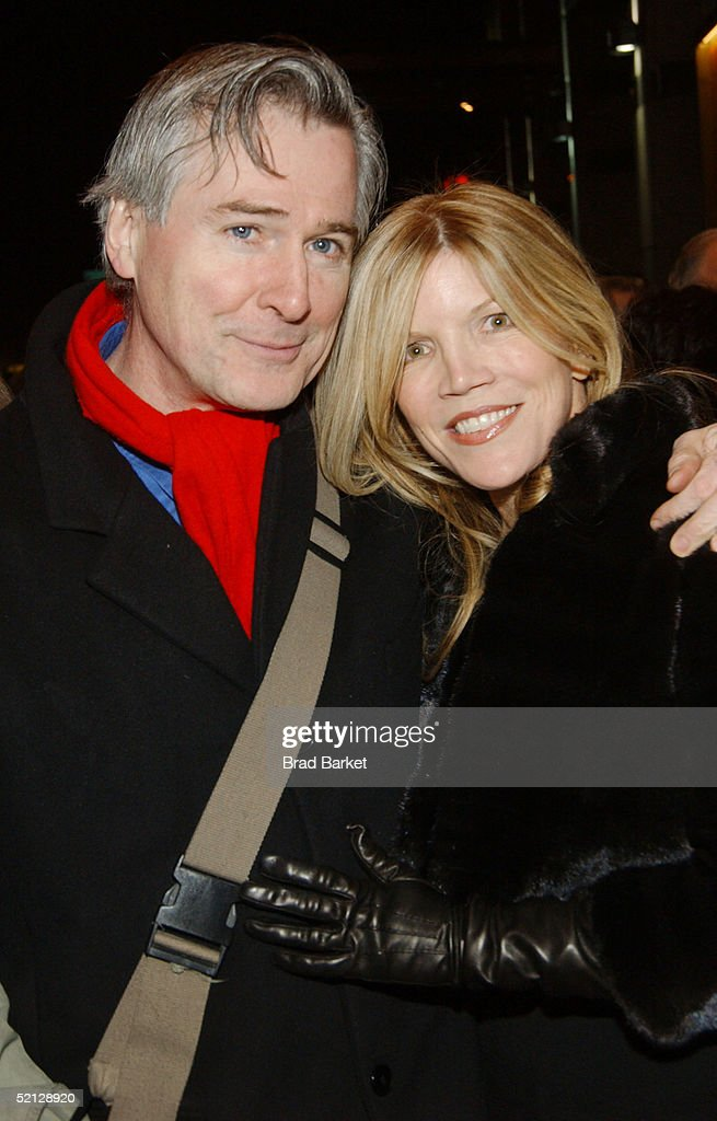 Writer John Patrick Shanley and producer Kimberly Braswell arrive for the premiere production of 'Brooklyn Boy' at the Biltmore Theatre on February 3, 2005 in New York City.