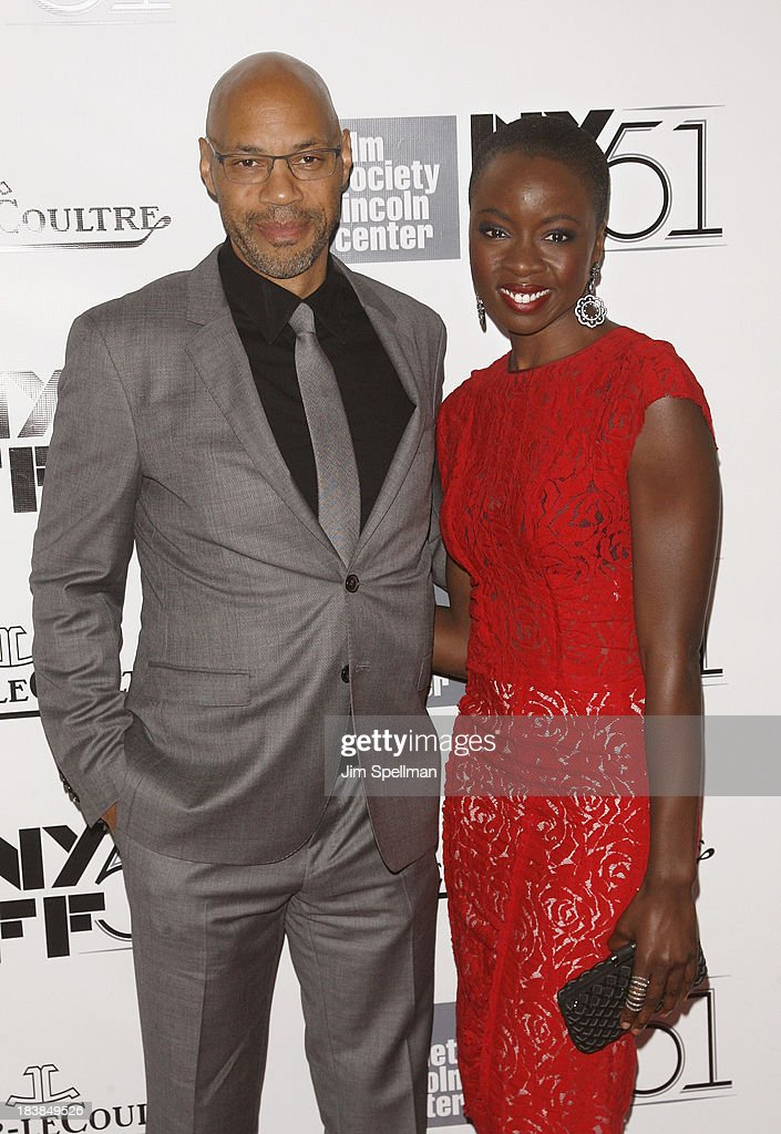 Writer John Ridley and actress Danai Jekesai Gurira attend the Gala Tribute To Ralph Fiennes during the 51st New York Film Festival at Alice Tully Hall at Lincoln Center on October 9, 2013 in New York City.