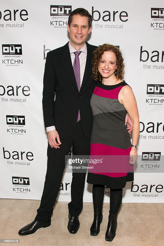 Writer Jon Hartmere (L) and composer Lynne Shankel attend 'BARE The Musical' Opening Night After Party at Out Hotel on December 9, 2012 in New York City.