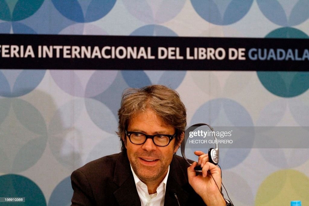 US writer Jonathan Franzen listens to a question during a press conference at the International Book Fair of Guadalajara, Mexico, on November 24, 2012, in Guadalajara, Jalisco state. AFP PHOTO/Hector Guerrero