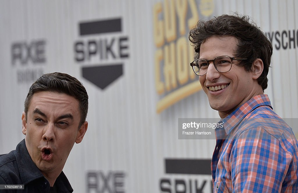 Writer Jorma Taccone and actor Andy Samberg attend Spike TV's Guys Choice 2013 at Sony Pictures Studios on June 8, 2013 in Culver City, California.