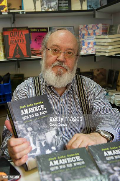 Writer Jose Luis Cuerda attends a book signing during 'Books Fair 2014' at the Retiro Park on June 1 2014 in Madrid Spain