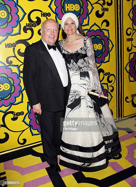 Writer Julian Fellowes and Emma Joy Kitchener arrive at HBO's Official After Party at The Plaza at the Pacific Design Center on September 23 2012 in...