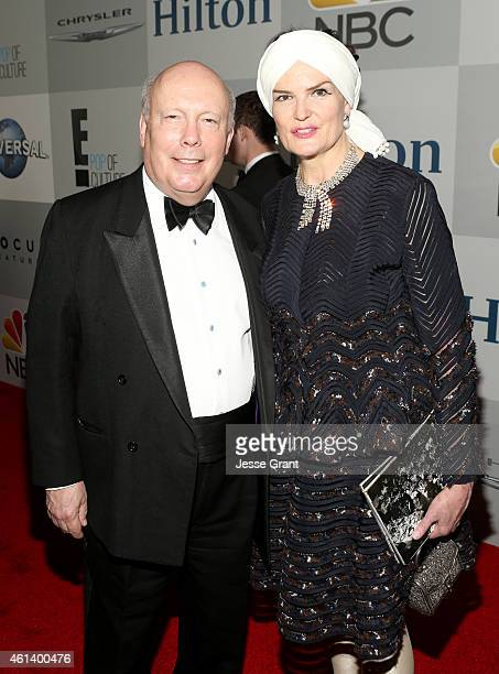 Writer Julian Fellowes and Emma Joy Kitchener attend Universal NBC Focus Features and E Entertainment 2015 Golden Globe Awards After Party sponsored...