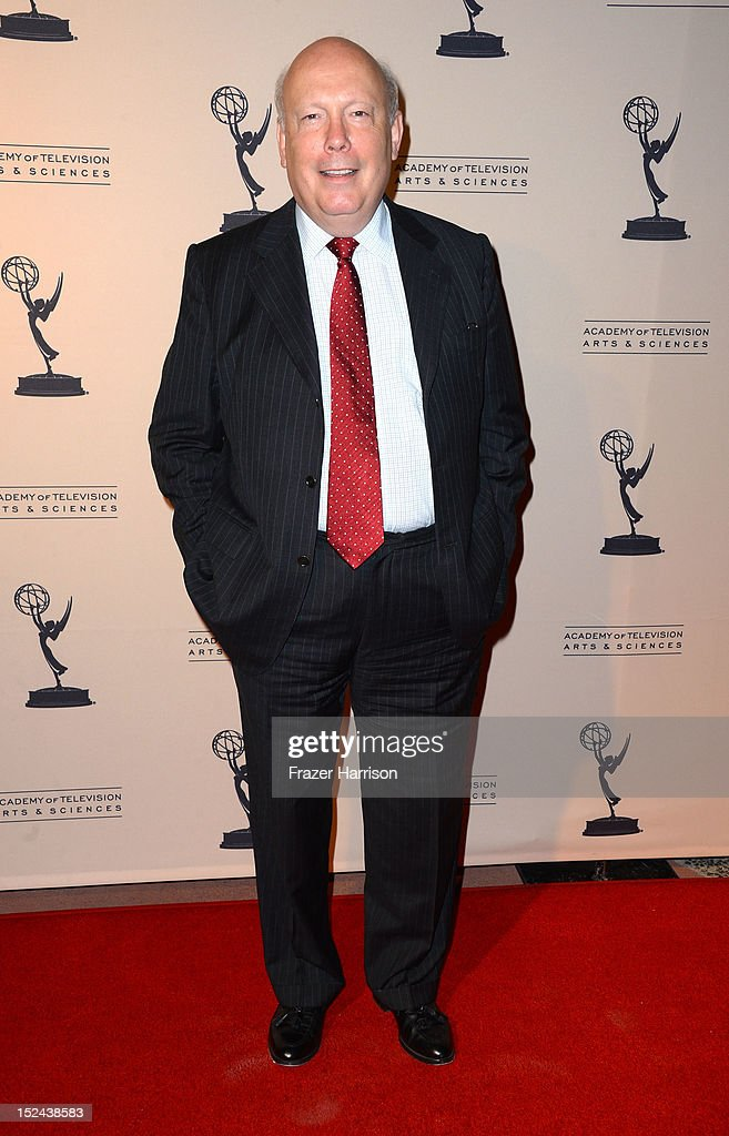 Writer <a gi-track='captionPersonalityLinkClicked' href=/galleries/search?phrase=Julian+Fellowes&family=editorial&specificpeople=224703 ng-click='$event.stopPropagation()'>Julian Fellowes</a> arrives at The Academy Of Television Arts & Sciences Writer Nominees' 64th Primetime Emmy Awards Reception at Academy of Television Arts & Sciences on September 20, 2012 in North Hollywood, California.