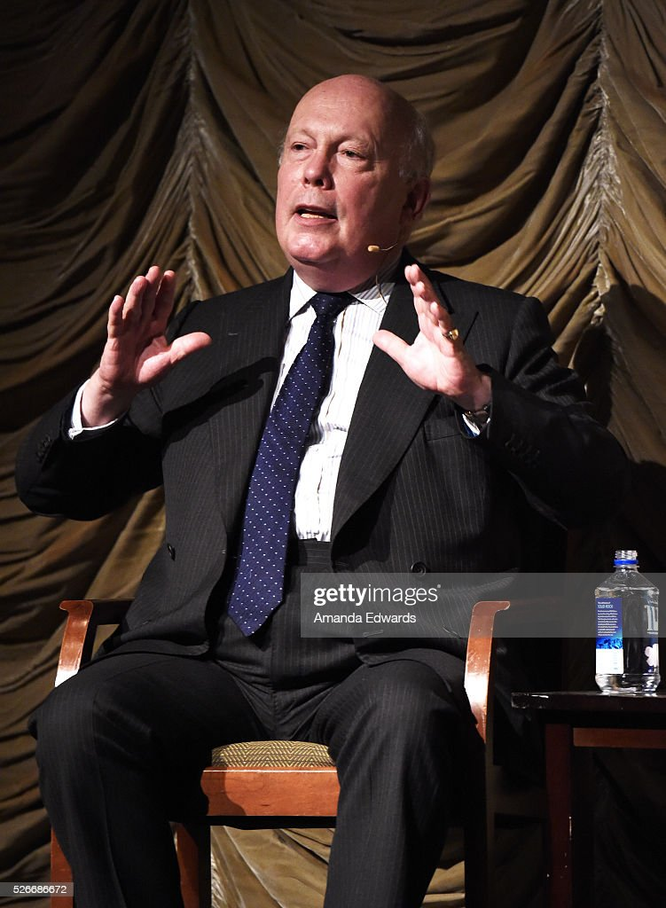 Writer <a gi-track='captionPersonalityLinkClicked' href=/galleries/search?phrase=Julian+Fellowes&family=editorial&specificpeople=224703 ng-click='$event.stopPropagation()'>Julian Fellowes</a> attends the LACMA and Writers Bloc presentation of <a gi-track='captionPersonalityLinkClicked' href=/galleries/search?phrase=Julian+Fellowes&family=editorial&specificpeople=224703 ng-click='$event.stopPropagation()'>Julian Fellowes</a> In Conversation with Patt Morrison at the Bing Theatre at LACMA on April 30, 2016 in Los Angeles, California.