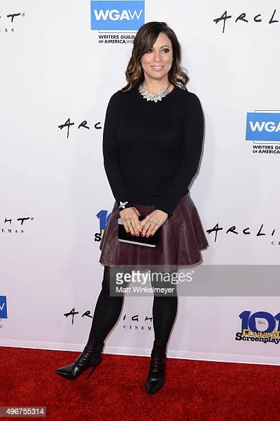 Writer Kay Cannon arrives at the WGA's 101 Funniest Screenplays at ArcLight Cinemas Cinerama Dome on November 11 2015 in Hollywood California