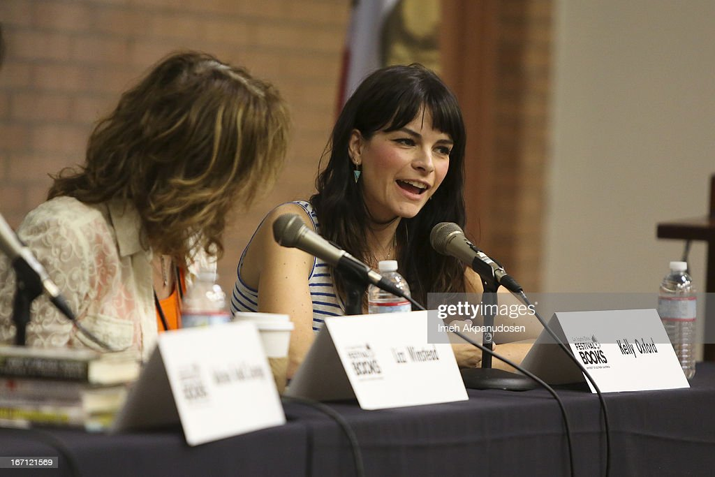 Writer Kelly Oxford speaks onstage at the 18th Annual LA Times Festival Of Books at USC on April 20, 2013 in Los Angeles, California.