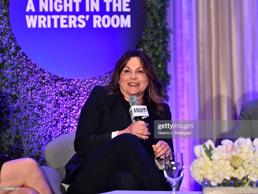 Writer Kerry Ehrin of 'Bates Motel' speaks at Variety's A Night In The Writers' Room at the Four Seasons on June 9, 2015 in Los Angeles, California.