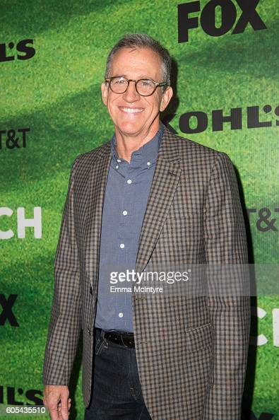 TV writer Kevin Falls arrives at the premiere of Fox's 'Pitch' at West LA Little League Field on September 13 2016 in Los Angeles California