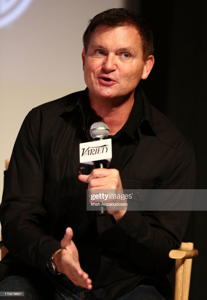 Writer <a gi-track='captionPersonalityLinkClicked' href=/galleries/search?phrase=Kevin+Williamson&family=editorial&specificpeople=631337 ng-click='$event.stopPropagation()'>Kevin Williamson</a> speaks onstage during Variety's A Night In The Writers' Room at Writers Guild Theater on June 11, 2013 in Beverly Hills, California.